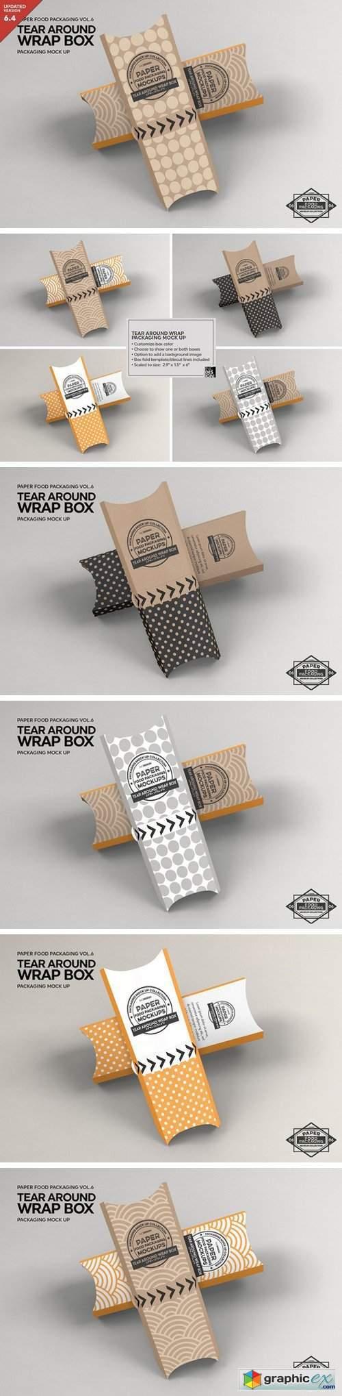 Tear Around Wrap Packaging Mockup