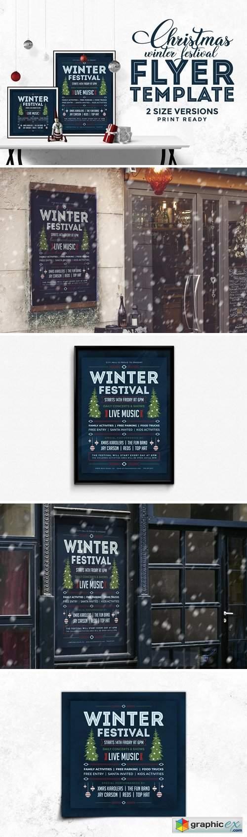 Winter Festival Flyer Template 4296596