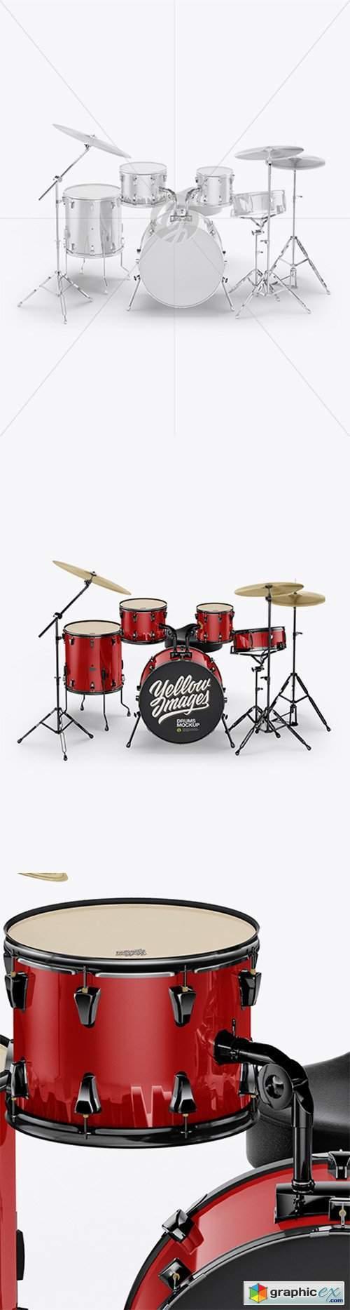 Drum Kit Mockup - Front View
