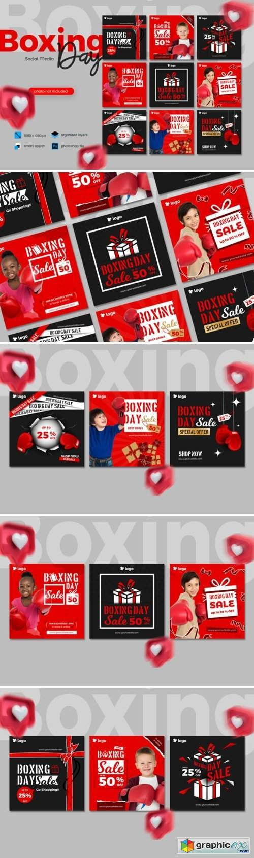 Boxing Day Sale Social Media Template