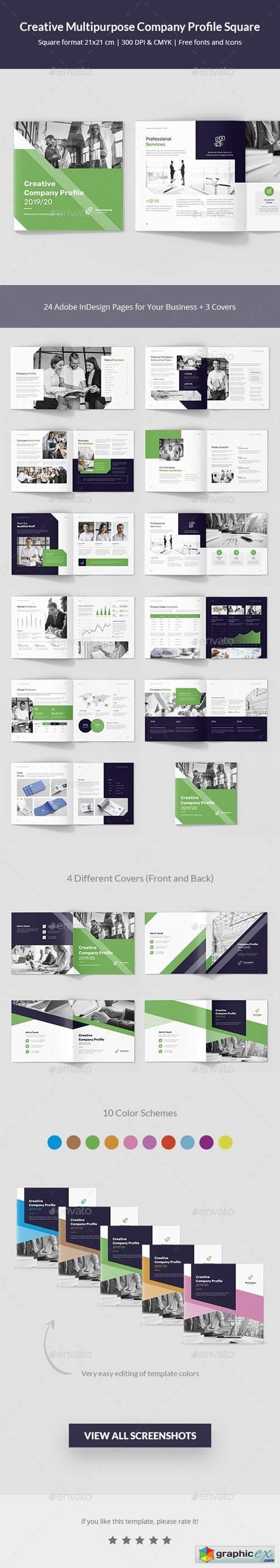 Creative Multipurpose Company Profile Square