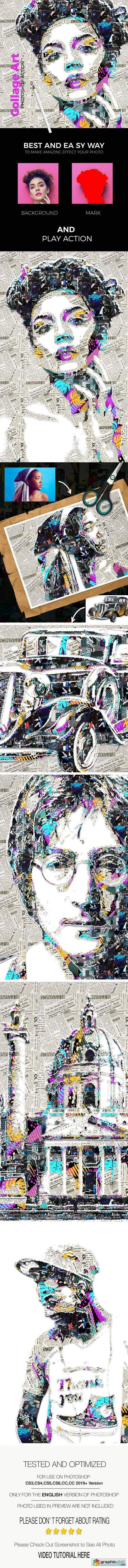 Collage Art Photoshop Action 24972417