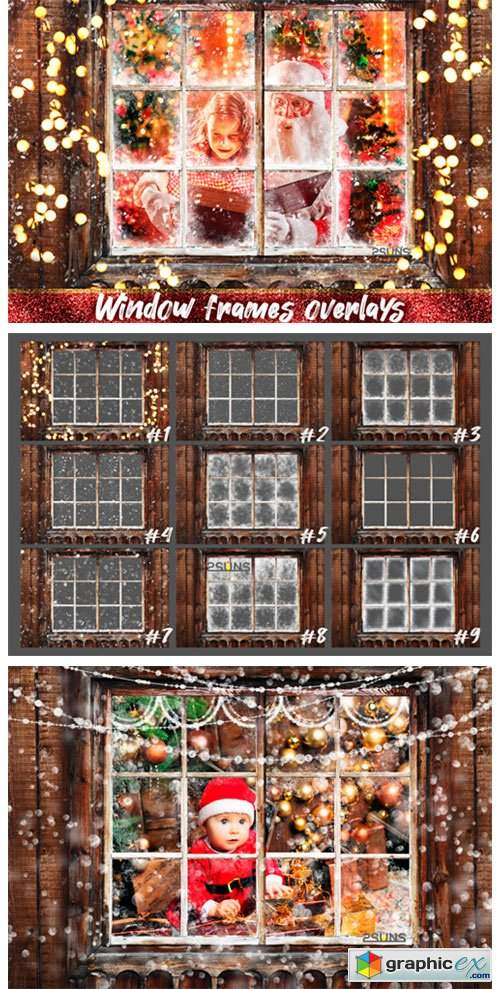 Window Frames Overlays Christmas Freeze