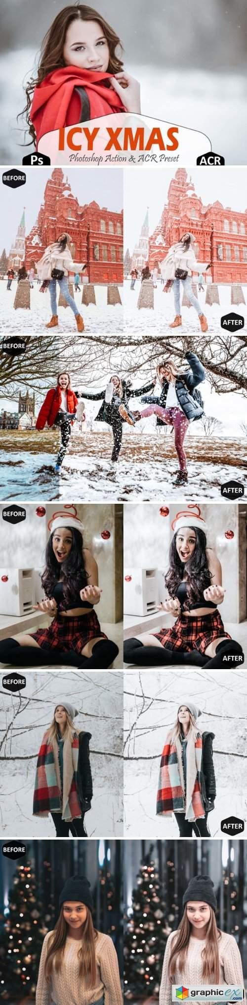 Icy Xmas Photoshop Actions