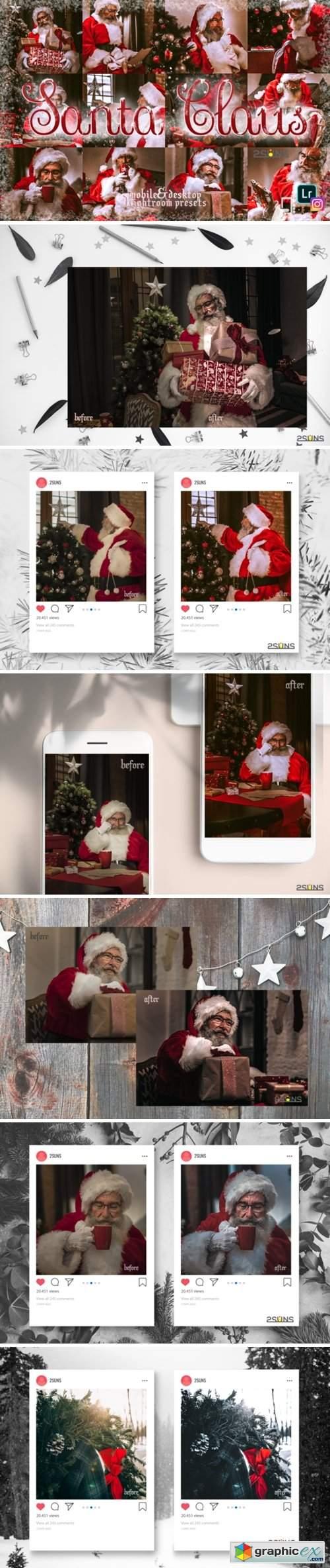 5 Santa Claus Lightroom Preset Christmas