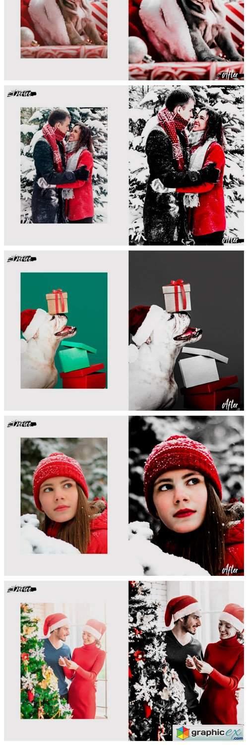 Christmas in Red Lightroom Preset, ACR