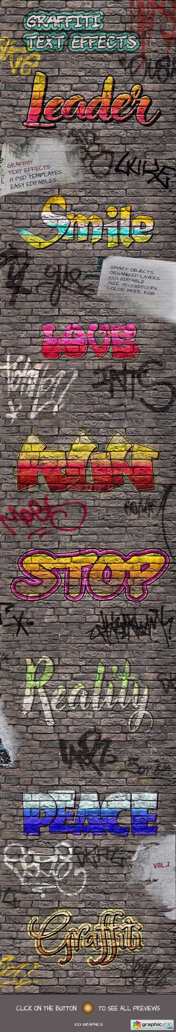 8 Graffiti Text Effects - 8 PSD Templates Vol.2
