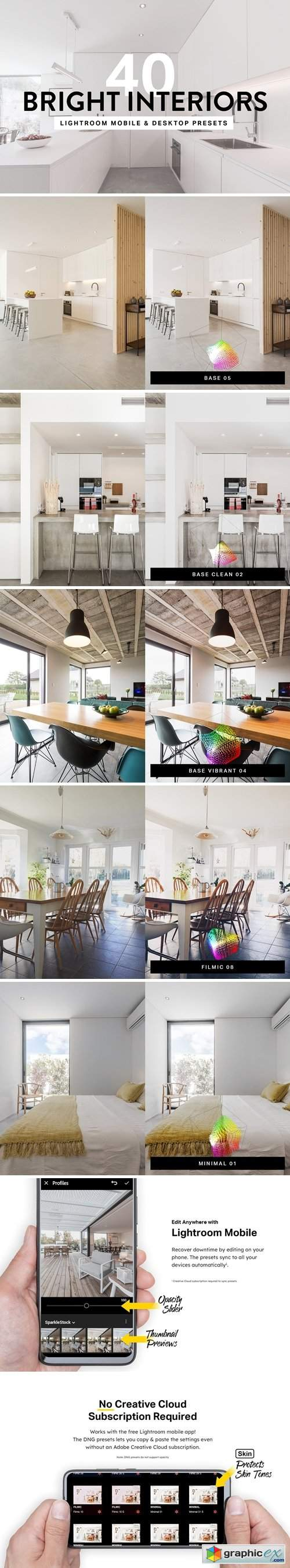 40 Bright Interior Lightroom Preset