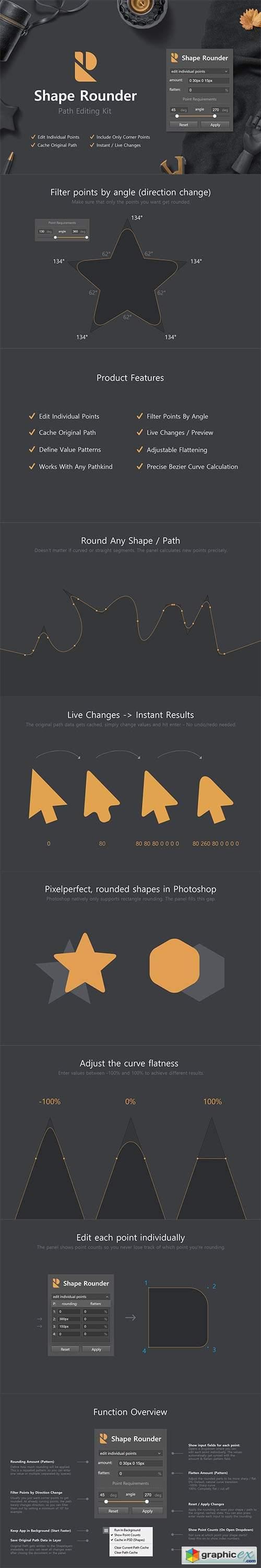Shape Rounder - Path Editing Kit