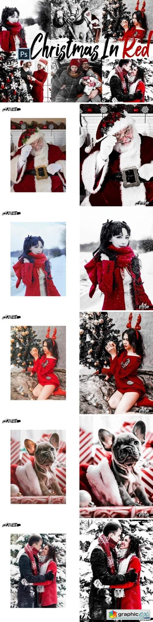 05 Christmas in Red Photoshop Actions