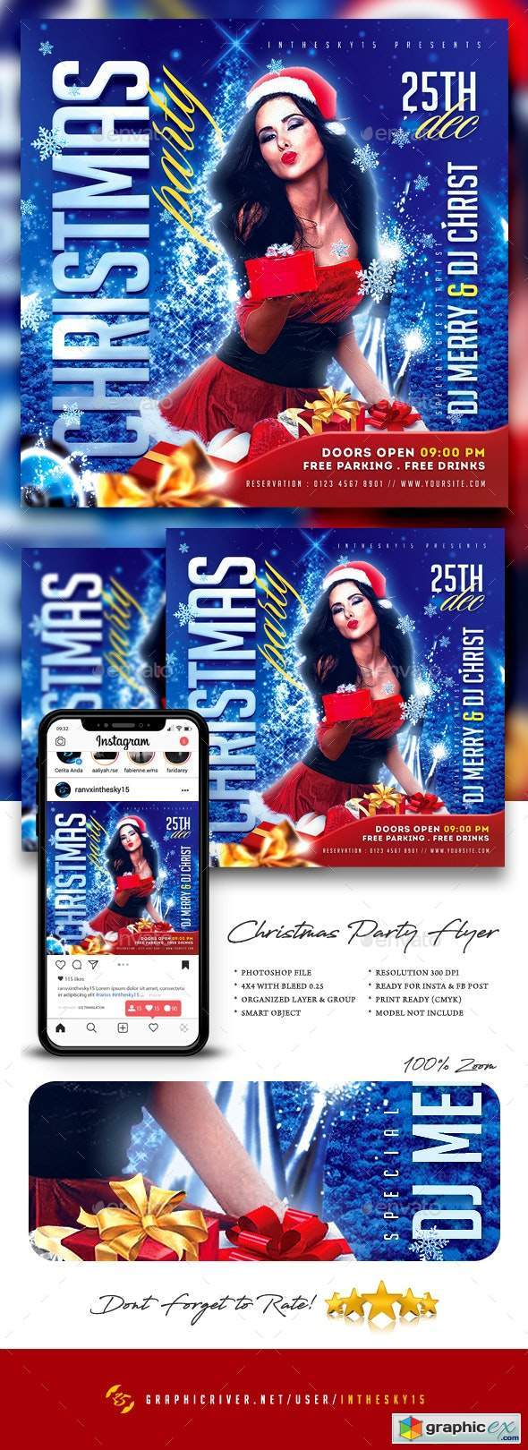 Christmas Party Flyer 25075501