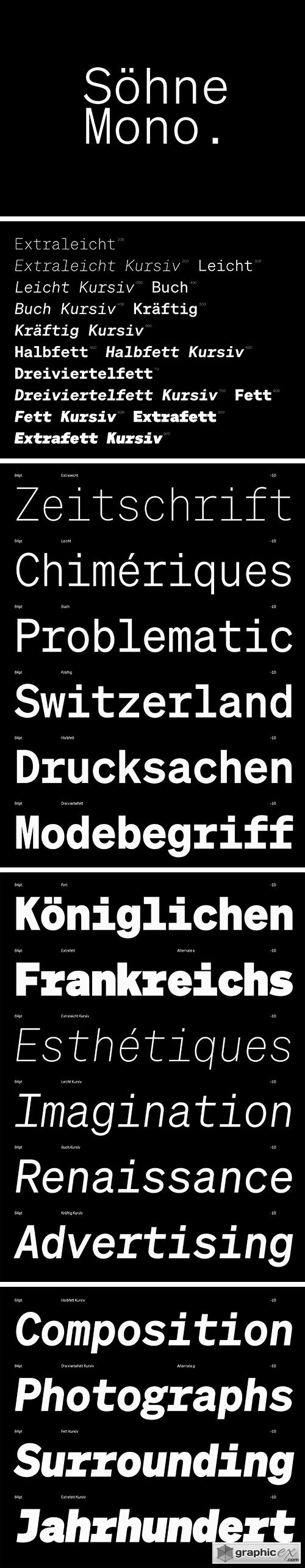 Sohne Mono Font Family