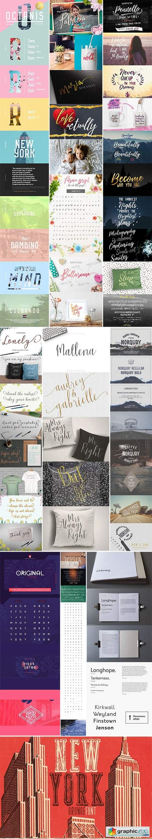 Mix Fonts Bundle 112
