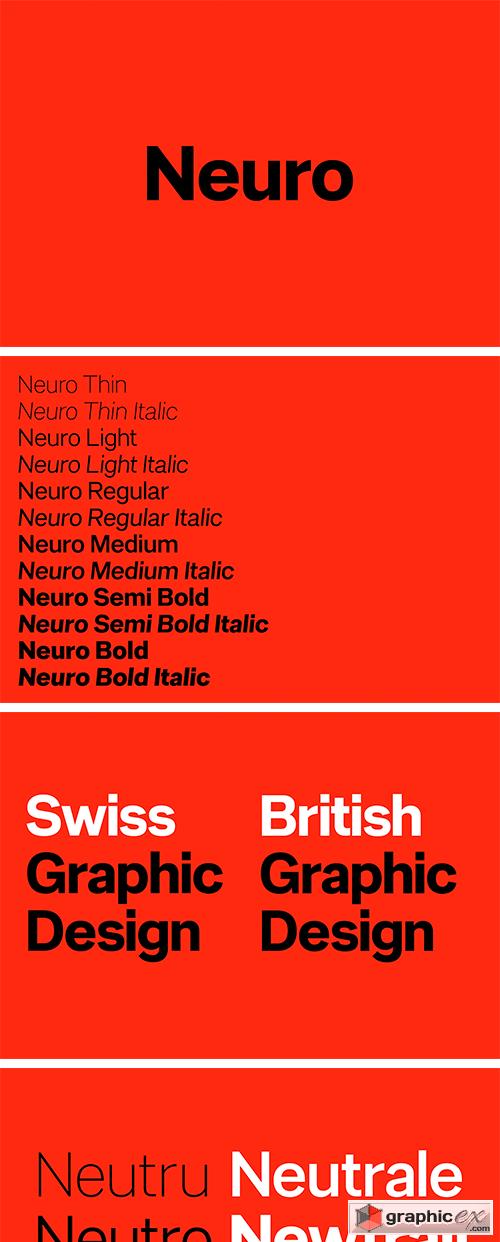 F37 Neuro Font Family
