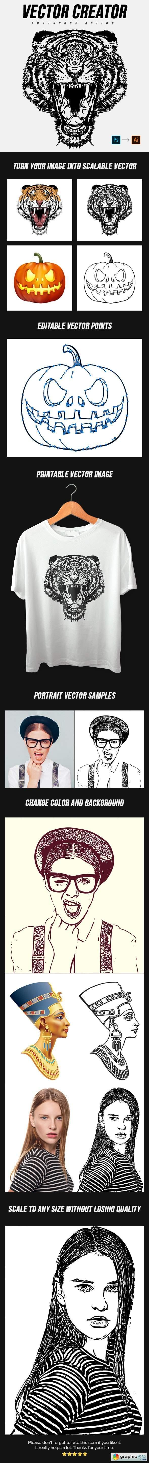 Vector Creator Photoshop Action 25072574