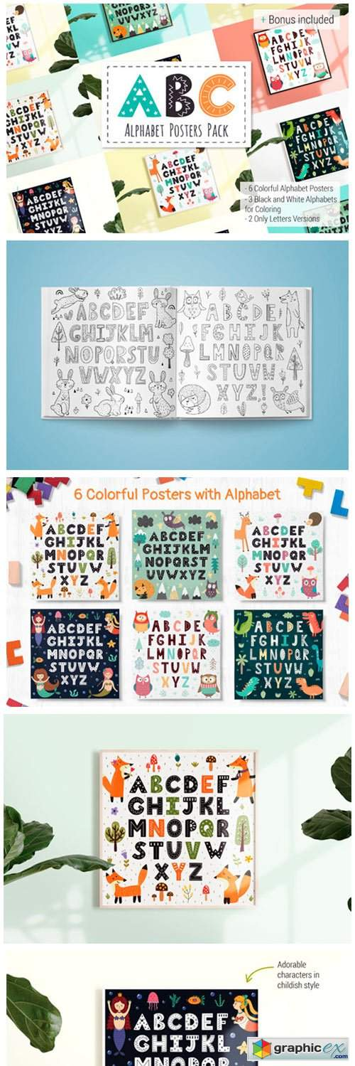 ABC: Alphabet Posters Pack
