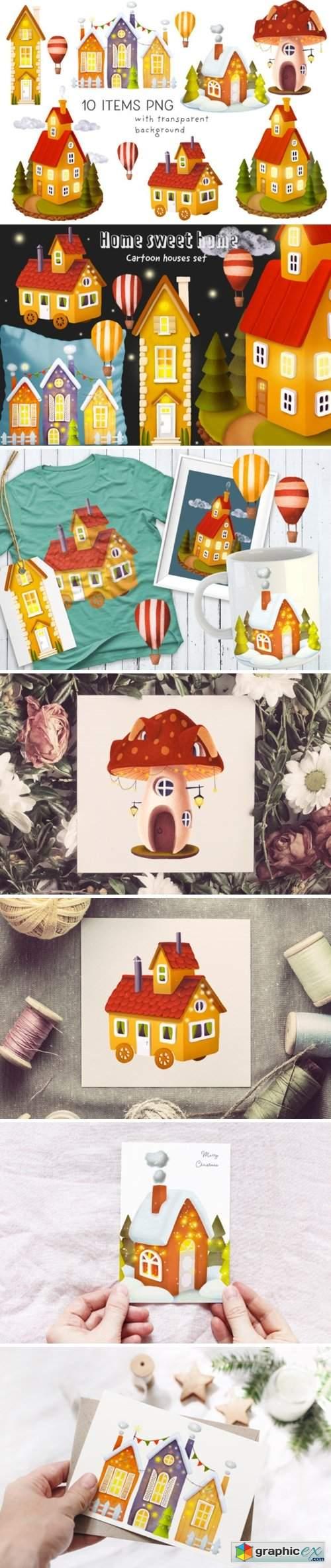 House Illustrations Set