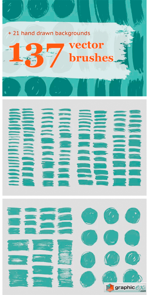 137 HandDrawn Vector Brushes