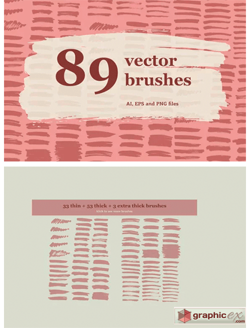89 HandDrawn Illustrator Brushes