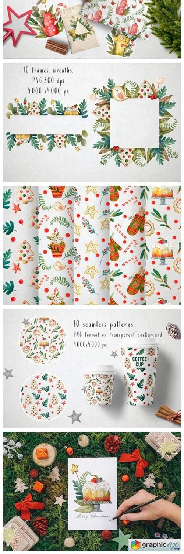 Sweet Christmas Watercolor Set