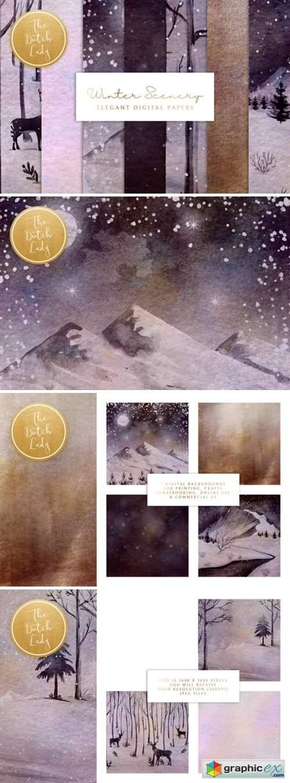 Digital Backgrounds Winter Sceneries