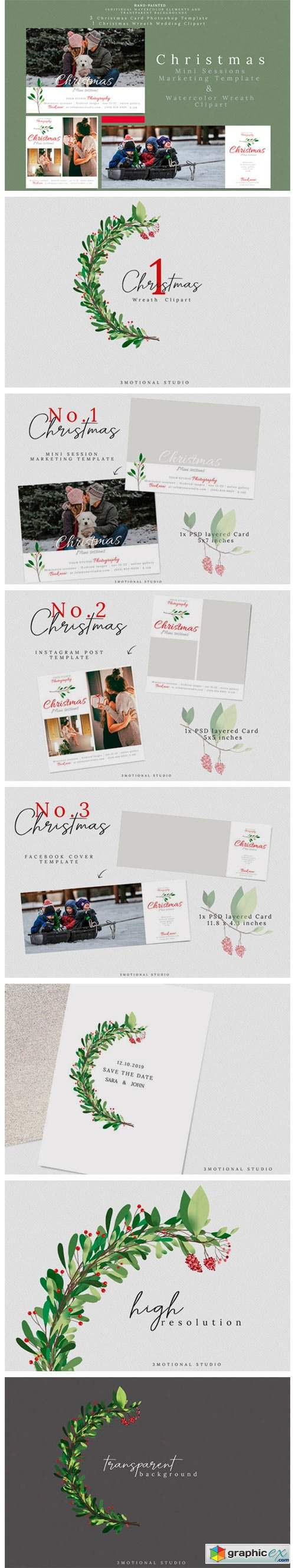 Holiday Mini Sessions Marketing Template