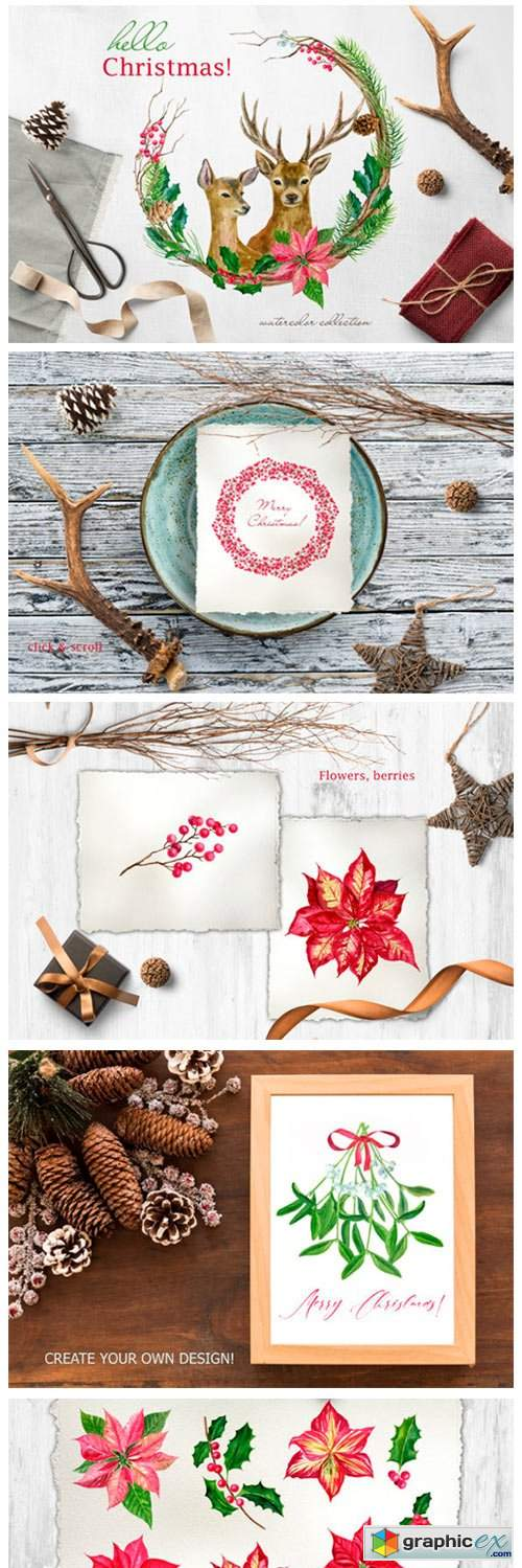Hello Christmas! Watercolor Set