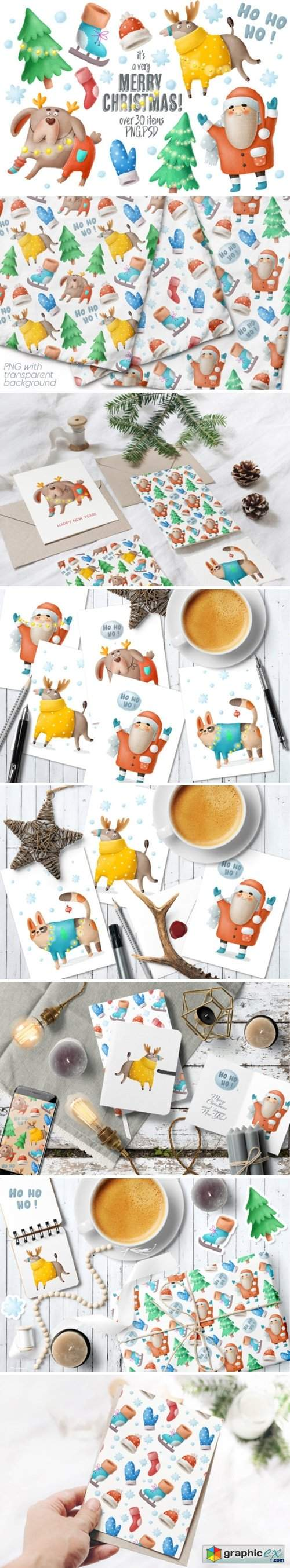Christmas Clipart and Characters Set