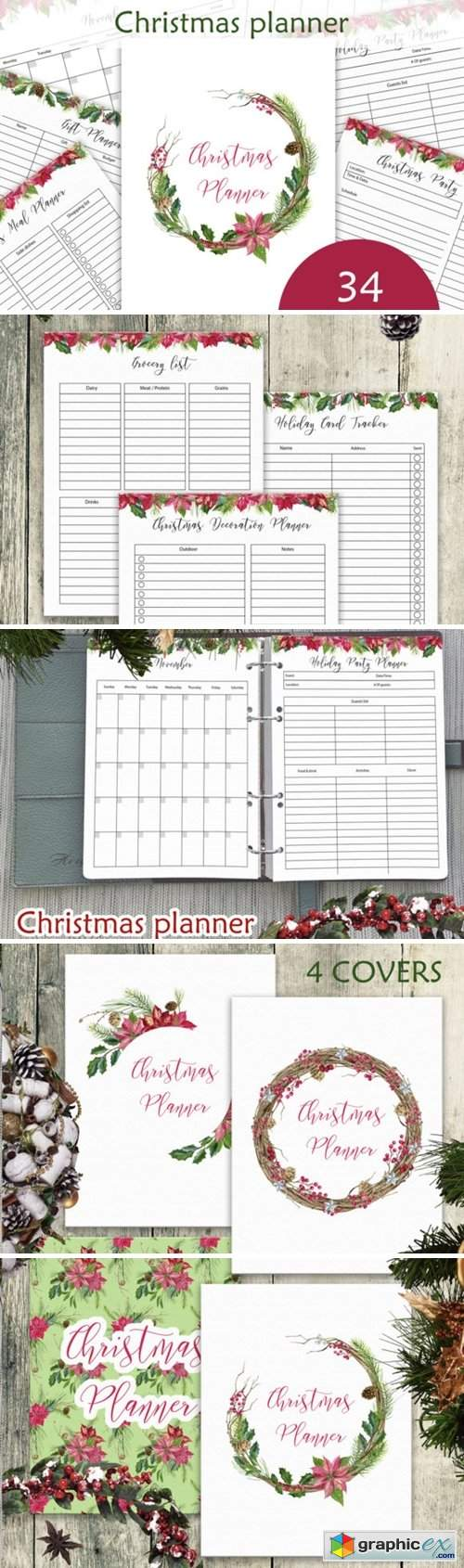 Christmas Planner Letter Size PDF