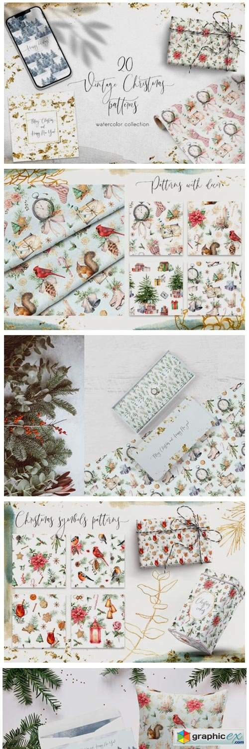 20 Vintage Christmas Patterns