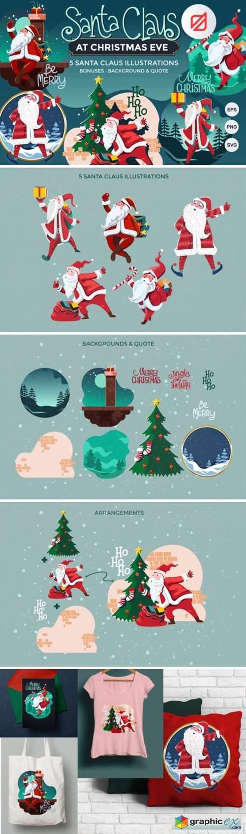 Santa Claus at Christmas Eve