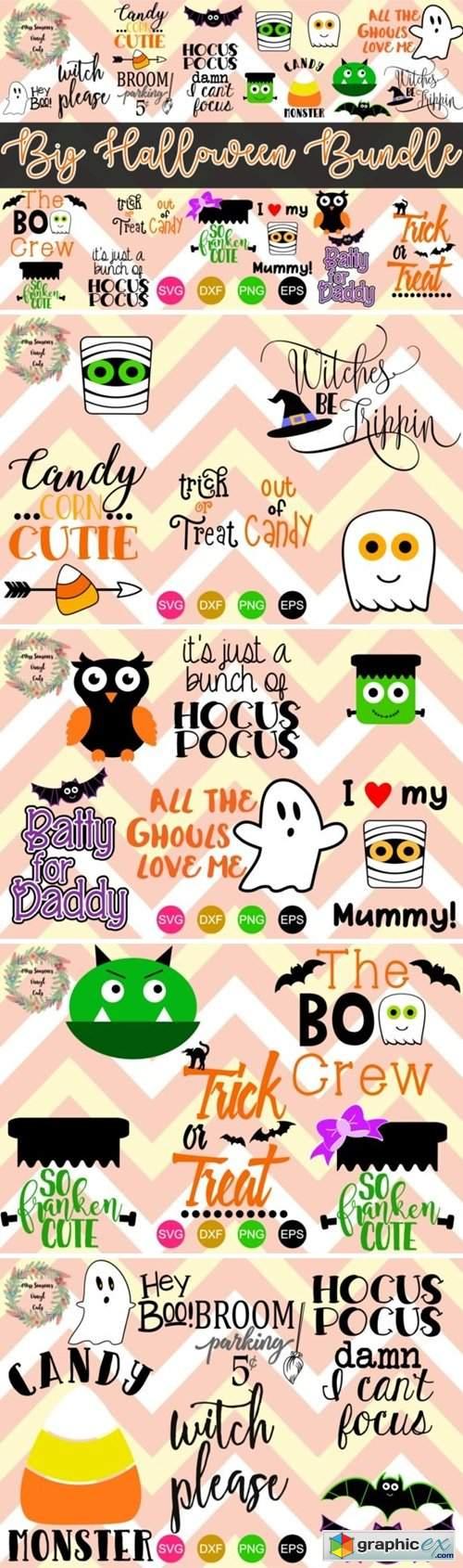 Big Halloween Bundle 22 Cut Files