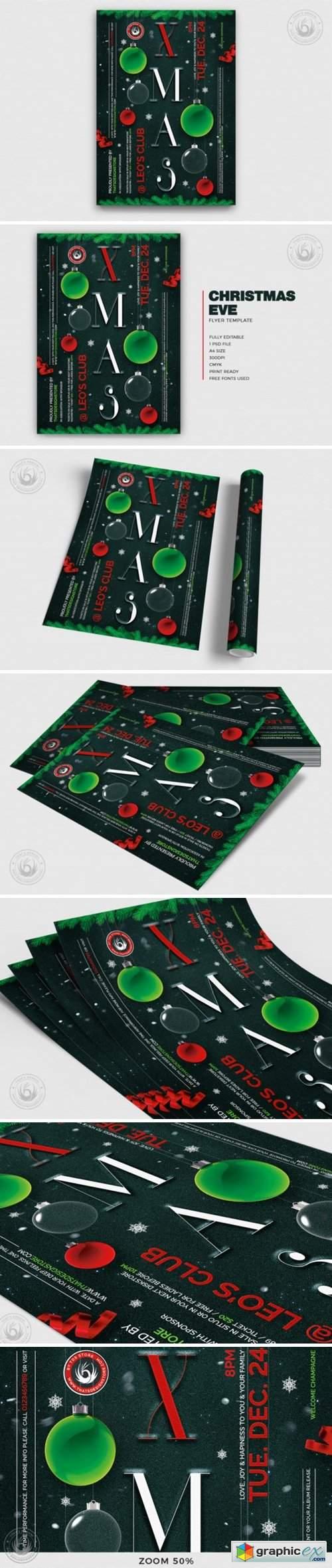 Christmas Eve Flyer Template 2002899