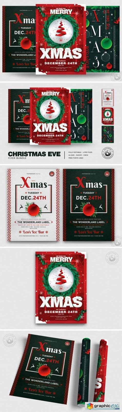 Christmas Eve Flyer Bundle V2