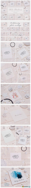 White Christmas 18 Stationery Mockups