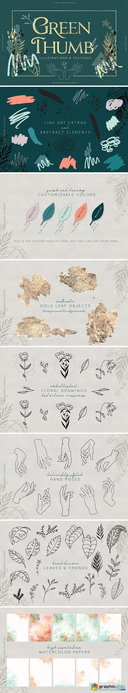 Green Thumb Illustrations & Textures