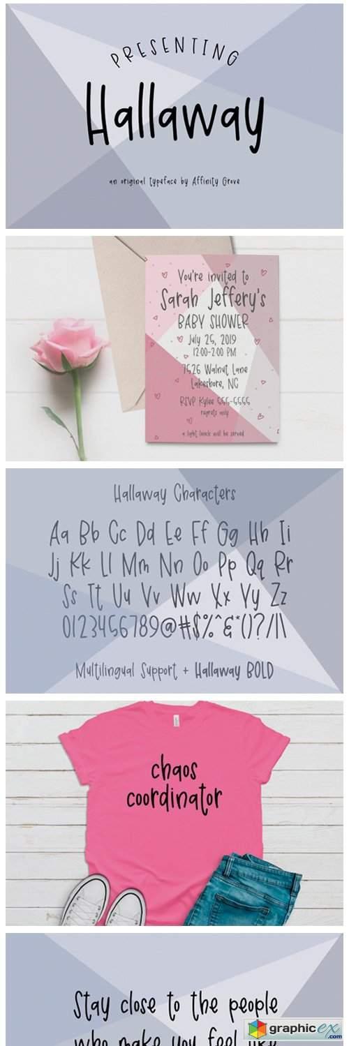 Hallaway Font