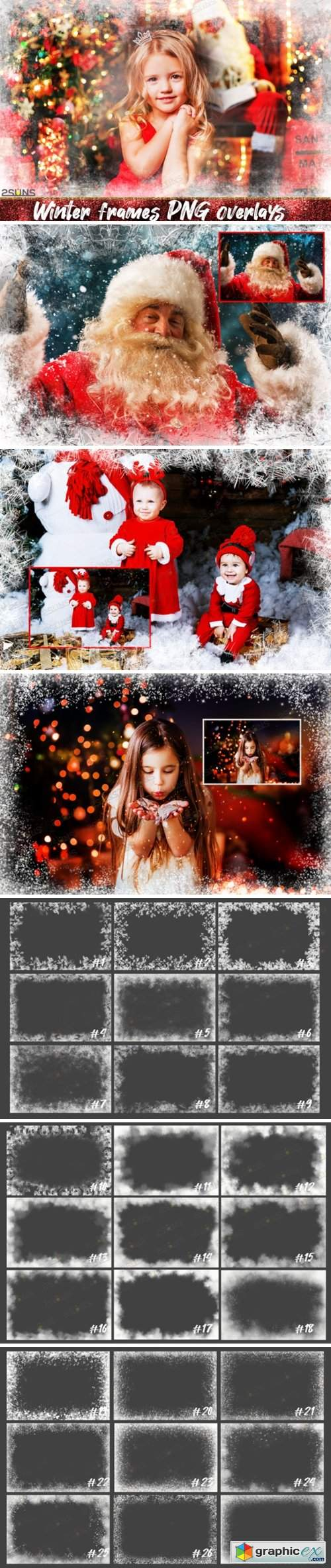 Photoshop Overlays Christmas Frames