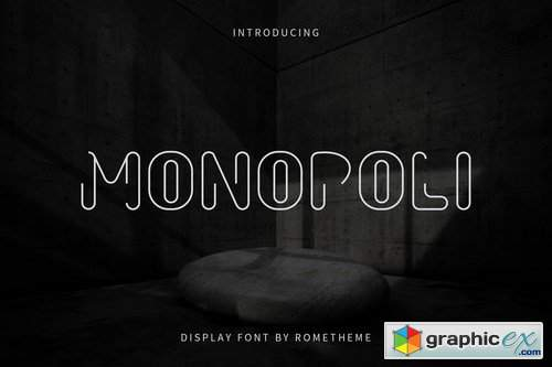 Monopoli - Display Font