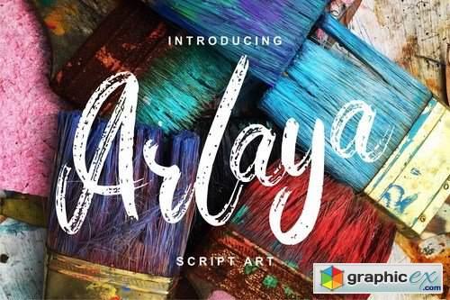 Arlaya Script Art Font
