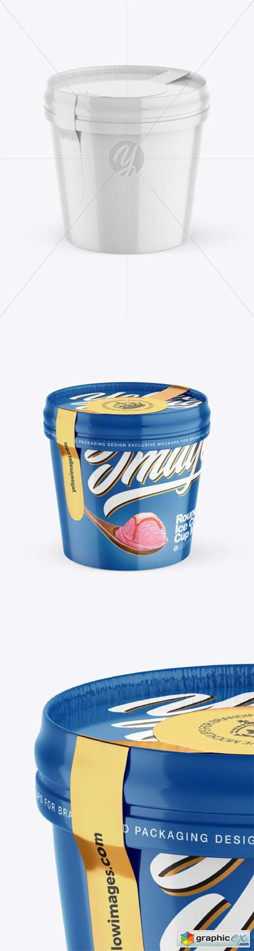 Glossy Ice Cream Cup Mockup 50821