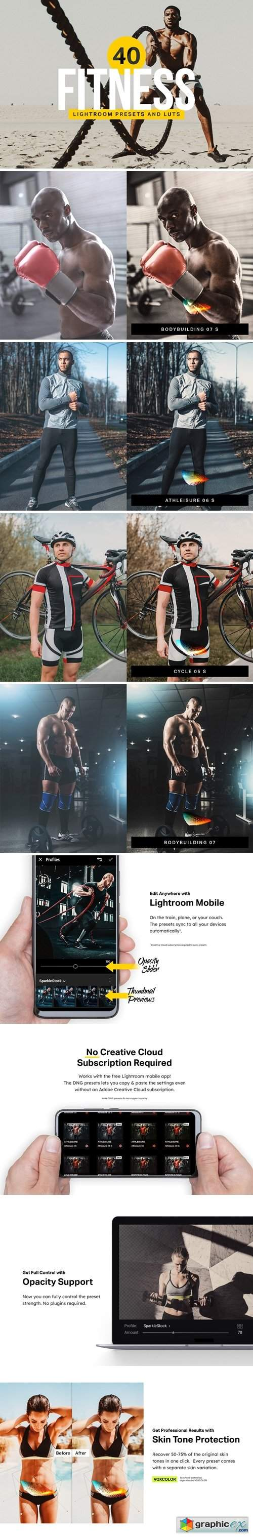 40 Fitness Lightroom Presets & LUTs