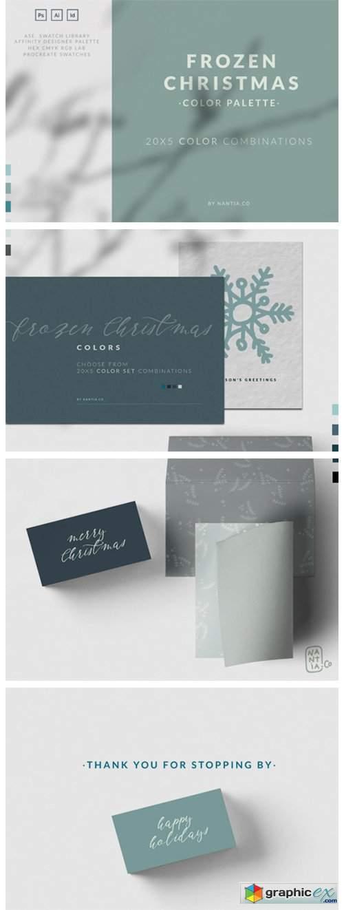 Frozen Christmas Color Palette