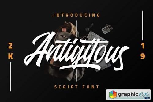 Antigitous - Script Font