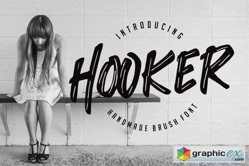 Hooker - Handmade Brush Font