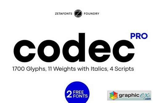 Codec Pro Font Family
