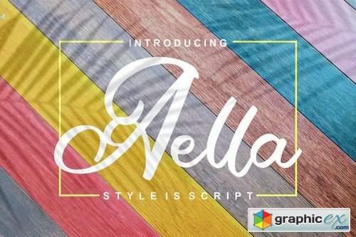 Aella Style Is Script Font