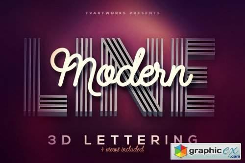 Modern Lines 3D Lerttering