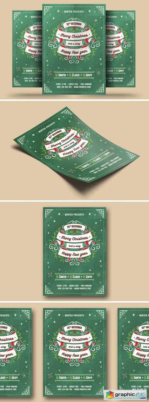 Christmas & New Year Flyer 2276090