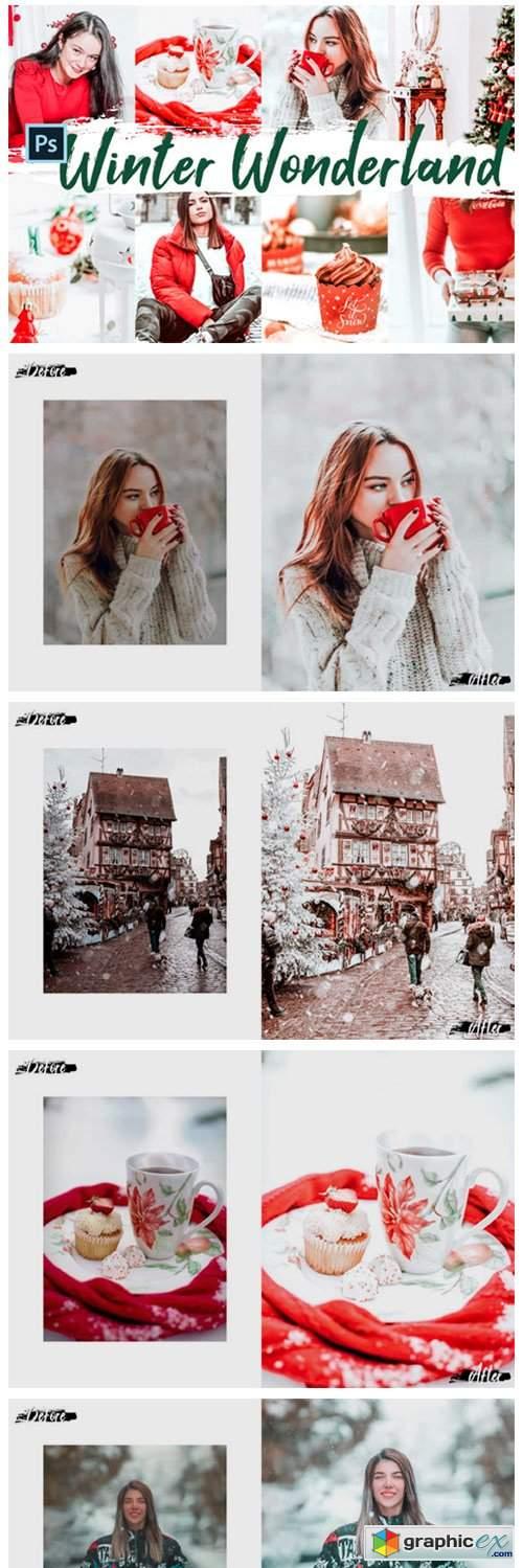 10 Winter Wonderland Photoshop Actions